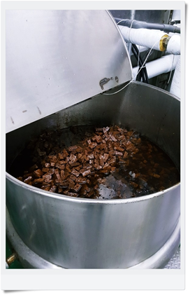 萬益千層豆干製程