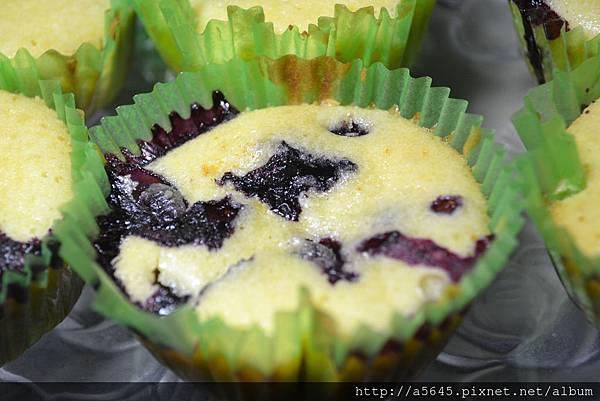 杯子藍莓蛋糕
