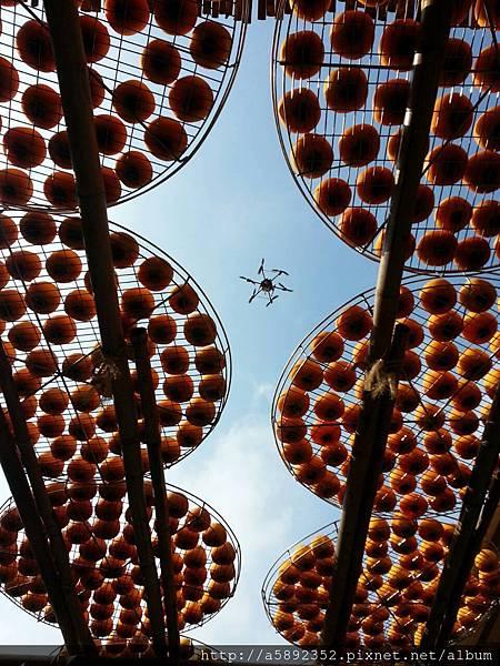 """攝影界最夯的""""空拍、空中攝影"""" — 在味衛佳柿餅觀光農場7"""