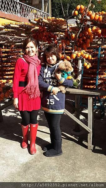 2014.12.26 王淑麗今日來訪味衛佳柿餅