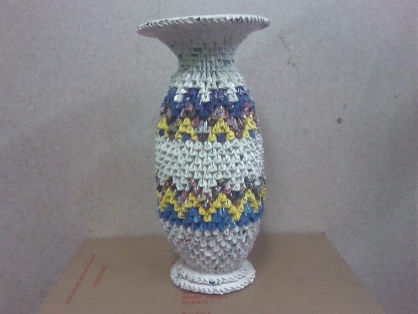 三角摺紙作品集-花瓶