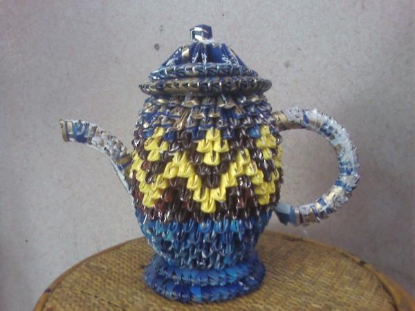 三角摺紙作品集-茶壺