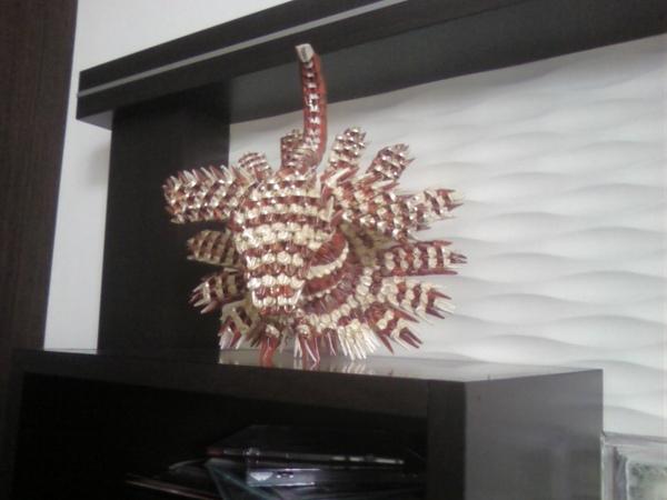 三角摺紙作品集-孔雀