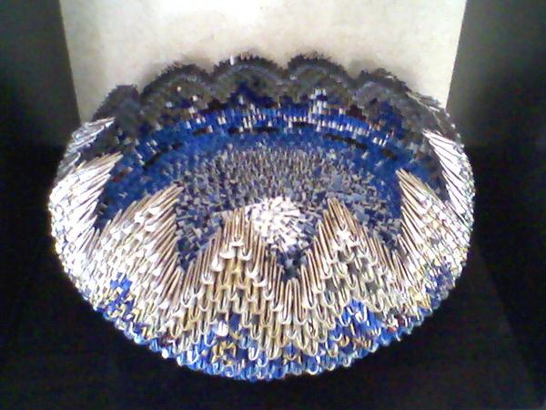 三角摺紙作品集相片-置物籃