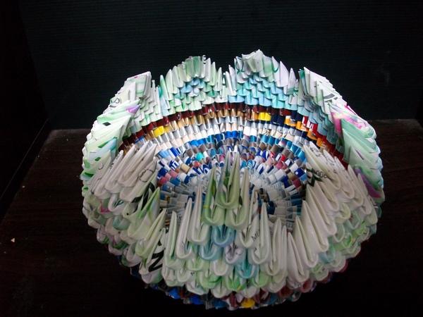 三角摺紙-置物籃
