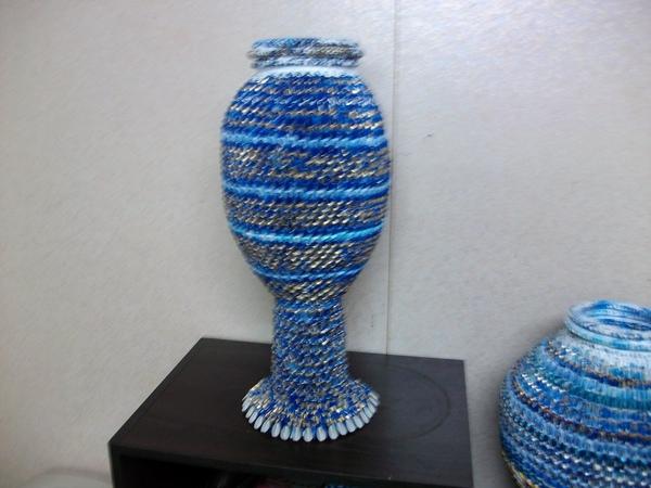 三角摺紙-花瓶