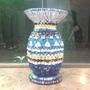 以藍色為底色的花瓶