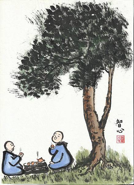 小沙彌--喝茶