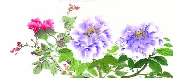 花鳥-牡丹