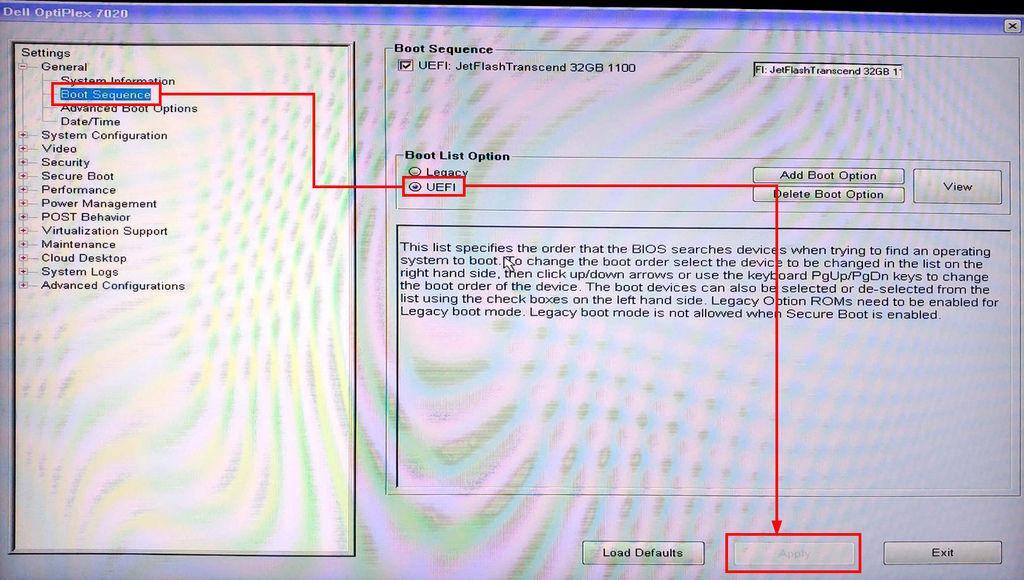 教學]Dell Opriplex 5040 7020 7050 7060 Bios UEFI、傳統開機設定