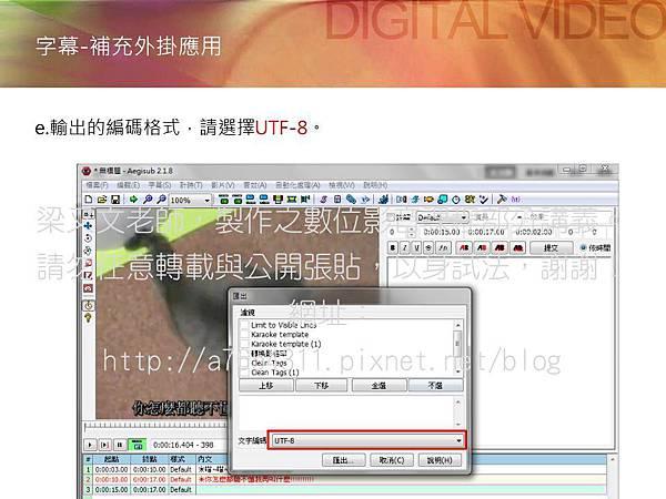 Aegisub軟體,字幕檔教學9,premiere