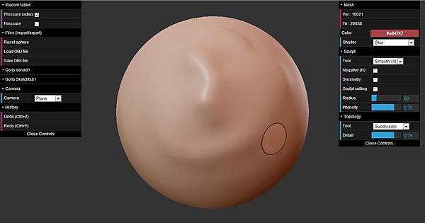 免費線上類Zbrush 5軟體下載: ScluptGL,輕鬆做出細緻造型(OBJ,3dsmax,keygen,破解,Stéphane GINIER,WebGL,JavaScript,demo,globe,tutorial教學,example)