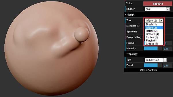 [數位應用]免費線上類Zbrush 5軟體程式:ScluptGL,輕鬆做出細緻造型(OBJ,3dsmax,keygen,破解下載,Stéphane GINIER,WebGL,JavaScript,demo,globe,tutorial教學,example)3