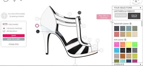 [產品設計] 客制化高跟鞋設計.禮物: 購買自己設計的鞋子(Design Custom Made Shoes) (電子商務,互動介面設計,服務設計,走路,品牌,好穿法,高度,ballet flats(芭蕾舞鞋),mid heels(中根鞋),high heels(高根鞋), extra high heels(超高跟鞋), flat sandals(平底涼鞋), heeled sandals(高跟涼鞋), gladiators Shoes(羅馬鞋), party heels(宴會高跟鞋), flat oxfords(平底休閒鞋), ankle boots(短靴), wedge heels(楔形鞋))3