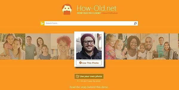 [科技]微軟How-old.net從照片圖像辨識出你的實際年齡與資料(Microsoft,APP,framework,API,)