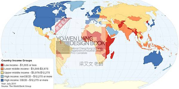 world Income map, 台灣與世界的收入分佈地圖