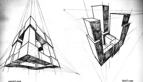 透視學(perspective),透視法教學畫法講義2一點透視,兩點透視,三點透視,基本名詞教學,說明(透視觀察,種類,畫法)15