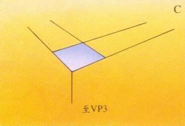 三點透視(three-point perspective), 高空透視 畫法C