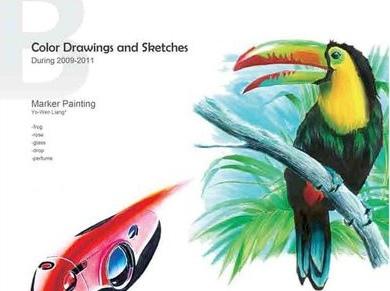 設計繪畫表現技法 Design Painting Sketch 整理 (麥克筆技法,設計素描,色鉛筆技法,廣告顏料技法,粉彩,教學,廣告設計乙級,證照,國家考試,手繪基本功)