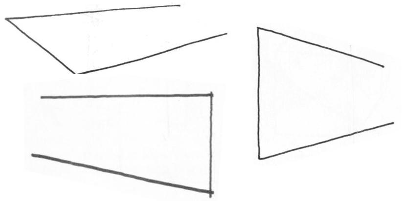 透視學 (perspective) 透視法教學畫法講義5: 判斷透視正確性與透視的造型比例分割,對角線中心點 (練習,Poe,攝影,英文,梁又文老師設計教學系列)4