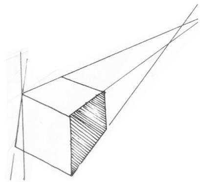 透視學 (perspective) 透視法教學畫法講義5: 判斷透視正確性與透視的造型比例分割,對角線中心點 (練習,Poe,攝影,英文,梁又文老師設計教學系列)9