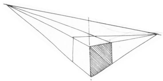 透視學 (perspective) 透視法教學畫法講義5: 判斷透視正確性與透視的造型比例分割,對角線中心點 (練習,Poe,攝影,英文,梁又文老師設計教學系列)10