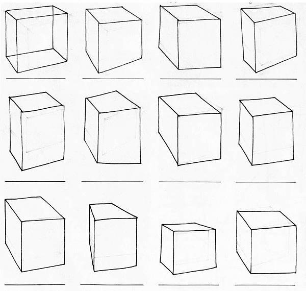 透視學 (perspective) 透視法教學畫法講義5: 判斷透視正確性與透視的造型比例分割,對角線中心點 (練習,Poe,攝影,英文,梁又文老師設計教學系列)11