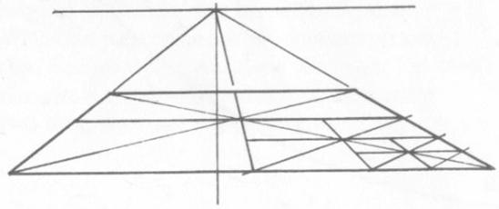 透視學 (perspective) 透視法教學畫法講義5: 判斷透視正確性與透視的造型比例分割,對角線中心點 (練習,Poe,攝影,英文,梁又文老師設計教學系列)14