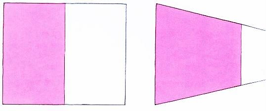 透視學 (perspective) 透視法教學畫法講義5: 判斷透視正確性與透視的造型比例分割,對角線中心點 (練習,Poe,攝影,英文,梁又文老師設計教學系列)19