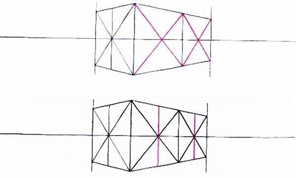 透視學 (perspective) 透視法教學畫法講義5: 判斷透視正確性與透視的造型比例分割,對角線中心點 (練習,Poe,攝影,英文,梁又文老師設計教學系列)22