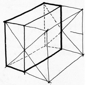透視學 (perspective) 透視法教學畫法講義6-1,透視立體造型比例增加,對角線中心點 (設計表現技法,手繪練習,Poe,梁又文老師)1