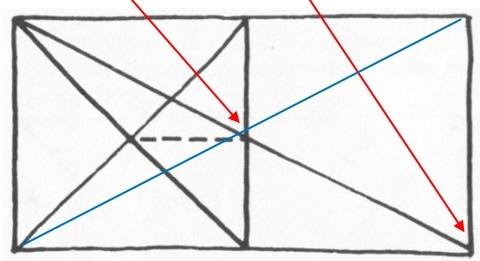 透視學 (perspective) 透視法教學畫法講義6-1,透視立體造型比例增加,對角線中心點 (設計表現技法,手繪練習,Poe,梁又文老師)2