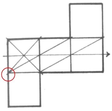 透視學 (perspective) 透視法教學畫法講義6-1,透視立體造型比例增加,對角線中心點 (設計表現技法,手繪練習,Poe,梁又文老師)5