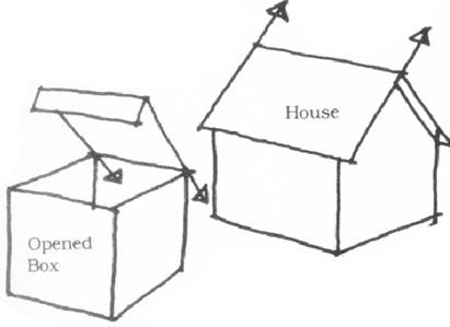 透視學 (perspective) 透視法教學畫法講義6-2,斜邊透視屋頂造型,對角線中心點 (設計表現技法,手繪練習,Poe,梁又文老師)2