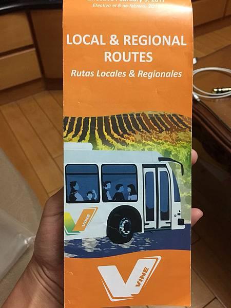 可以在遊客中心或是納帕公車上面拿到的時刻表 很重要.jpg