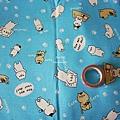 蔚藍底棉布