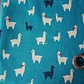 藍綠底棉布