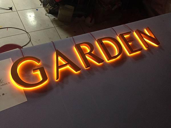 台北市 安和路 GRAND GARDEN  壓克力 LED 發光字(背光)