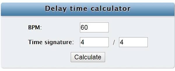 Delay time calculator