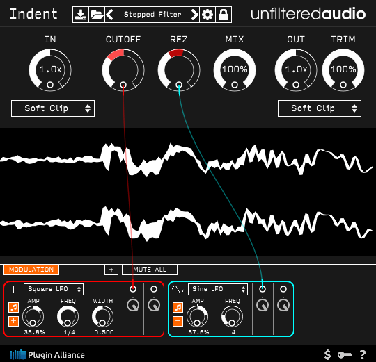 Unfiltered-Audio-Indent-screenshot