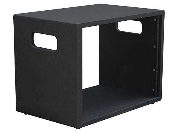 Rack-Portable-8RUx1-Black-Left-Empty