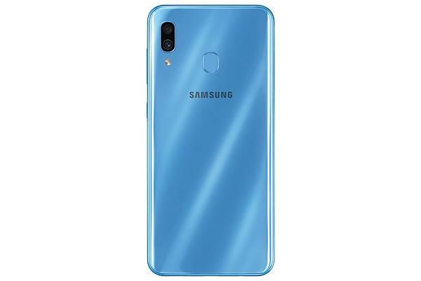 Galaxy-A30炫光藍_背面