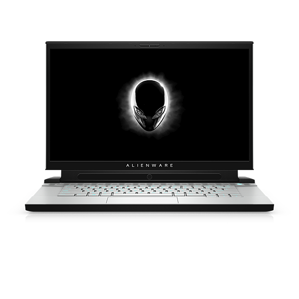 Alienware m15_front view open_Tobii_white