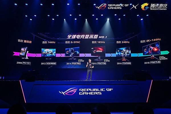華碩ROG電競顯示器創下各項世界紀錄