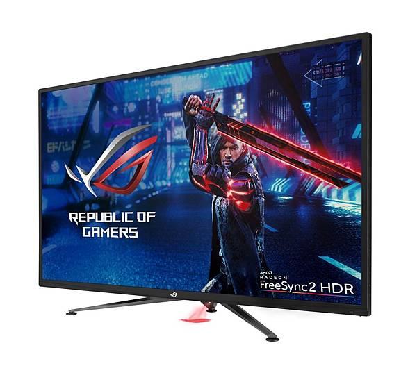 全球尺寸最大且最快速的4K UHD FreeSync 2 HDR電競螢幕ROG Strix XG438Q今日正式在台上市