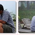 爸爸在霧中幫孩子剪指甲.jpg