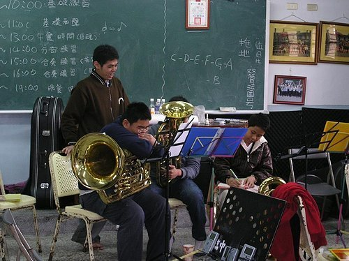 瑞穗管樂團的寒訓