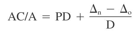 5-05 calculative ACA ratio formula