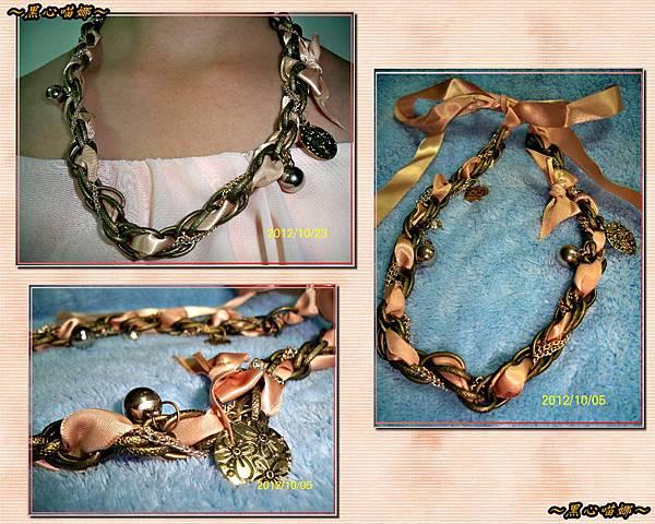 06緞帶穿插絲帶項鍊