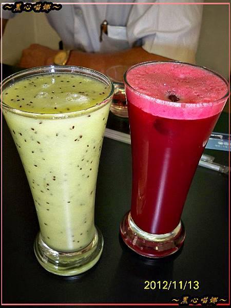 05奇異果汁、綜合蔬果汁